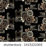 seamless geometrical floral... | Shutterstock .eps vector #1415222303