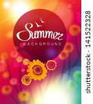 vector summer background | Shutterstock .eps vector #141522328