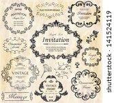 vector set  calligraphic design ... | Shutterstock .eps vector #141524119