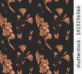 rose gold seamless pattern.... | Shutterstock .eps vector #1415256566