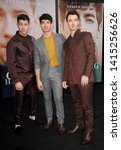 Small photo of Kevin Jonas, Joe Jonas and Nick Jonas at the premiere of Amazon Prime Video's 'Chasing Happiness' held at the Regency Bruin Theatre in Westwood, USA on June 3, 2019.
