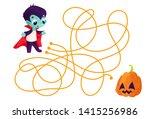 vector cartoon vampire and... | Shutterstock .eps vector #1415256986