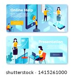 vector online help ... | Shutterstock .eps vector #1415261000