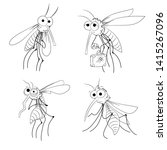 vector mosquito collection  ... | Shutterstock .eps vector #1415267096