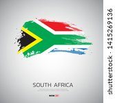 flag of south africa with ... | Shutterstock .eps vector #1415269136