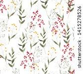 vector tropical leave wallpaper.... | Shutterstock .eps vector #1415278526