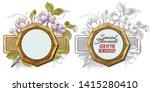 vector plant vignette for... | Shutterstock .eps vector #1415280410