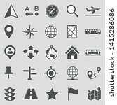 map and location icons. sticker ... | Shutterstock .eps vector #1415286086