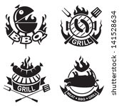 barbecue banners | Shutterstock .eps vector #141528634