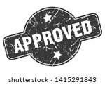 approved round grunge isolated... | Shutterstock .eps vector #1415291843
