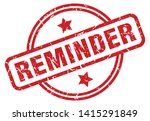 reminder round grunge isolated... | Shutterstock .eps vector #1415291849