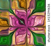 Multicolored Abstract Stylized...