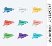 paper plane. set of paper plane ...