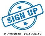 sign up round vintage grunge... | Shutterstock .eps vector #1415300159