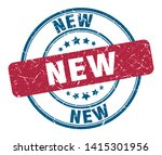new vintage round isolated stamp | Shutterstock .eps vector #1415301956