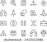 set of job hunting icons  such... | Shutterstock .eps vector #1415313386