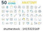 set of line icons of anatomy... | Shutterstock . vector #1415323169