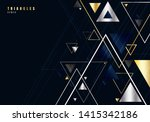 abstract gold and silver... | Shutterstock .eps vector #1415342186
