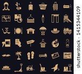 handling icons set. simple set...   Shutterstock .eps vector #1415344109