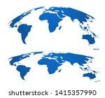 map globe. 3d world maps...   Shutterstock .eps vector #1415357990