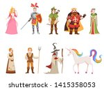 medieval historical characters. ... | Shutterstock .eps vector #1415358053