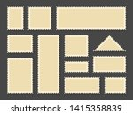 postage stamps frames. blank... | Shutterstock .eps vector #1415358839