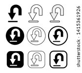 set of simple sign download icon   Shutterstock .eps vector #1415361926