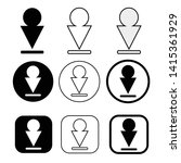 set of simple sign download icon   Shutterstock .eps vector #1415361929