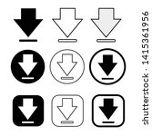 set of simple sign download icon   Shutterstock .eps vector #1415361956