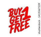 buy one get one free  vector...   Shutterstock .eps vector #1415367239