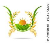 farm icon concept logo full... | Shutterstock .eps vector #1415372303