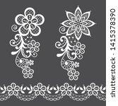 vitnage lace half single vector ... | Shutterstock .eps vector #1415378390