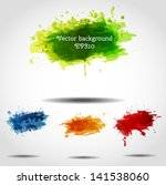 set of bright grunge... | Shutterstock .eps vector #141538060
