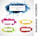 set of bright grunge... | Shutterstock .eps vector #141538069