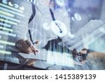 multi exposure of woman's... | Shutterstock . vector #1415389139
