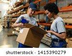 female warehouse workers... | Shutterstock . vector #1415390279