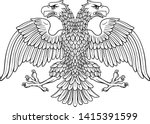 double headed eagle with two... | Shutterstock .eps vector #1415391599