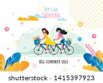 lets go shopping on big summer... | Shutterstock .eps vector #1415397923