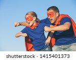 father and daughter playing... | Shutterstock . vector #1415401373