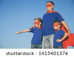 father and children playing... | Shutterstock . vector #1415401376