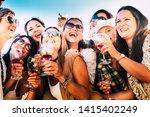 beautiful women in group... | Shutterstock . vector #1415402249