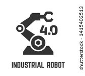 industrial robot arm icon with... | Shutterstock .eps vector #1415402513