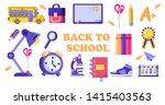 back to school big set ... | Shutterstock .eps vector #1415403563