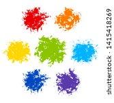 set of color paint texture... | Shutterstock .eps vector #1415418269