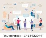 social network community flat... | Shutterstock .eps vector #1415422049