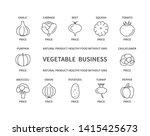 vegetable business linear icons ... | Shutterstock .eps vector #1415425673