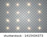 set of golden glowing lights...