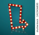 retro banner with shining... | Shutterstock .eps vector #1415436830