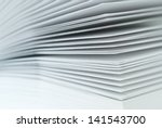 close up pieces of paper. view... | Shutterstock . vector #141543700