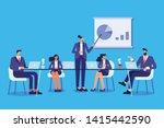 business people meeting... | Shutterstock .eps vector #1415442590